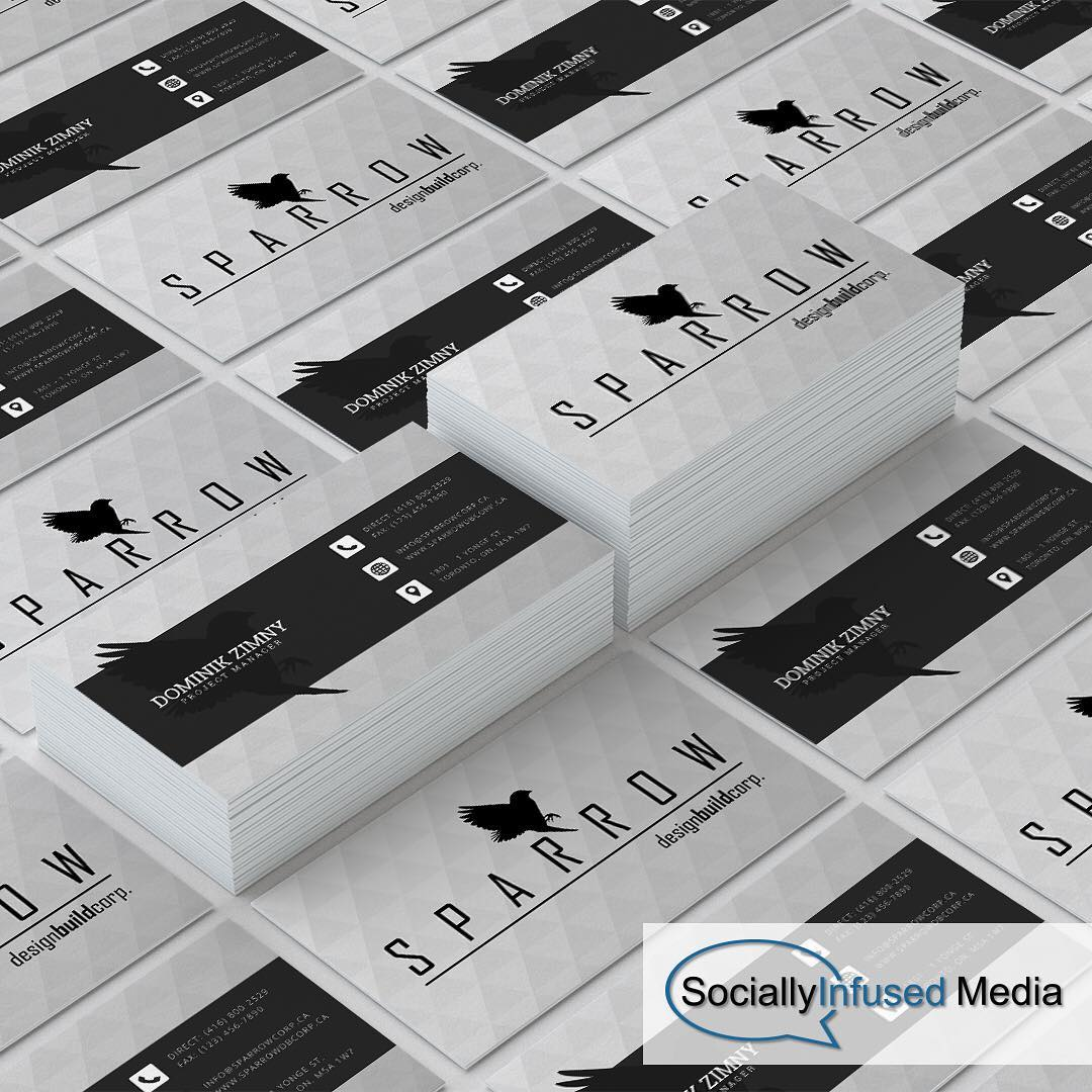 Sparrow design build corp. business cards