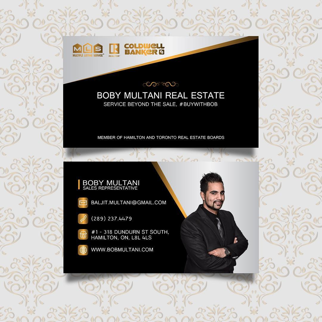 Boby Multani real estate business cards