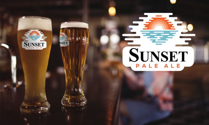 Sunset Pale Ale product packaging
